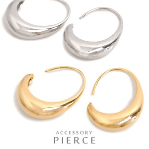 MAGGIO Mode Styling Drop Metal Hoop Pierced Earring