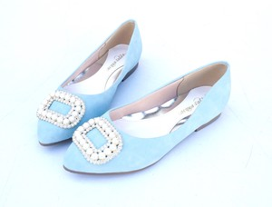 Pumps Pastel Color Bijou Flat Pumps Wide 4E Low Rebounding Sock Lining