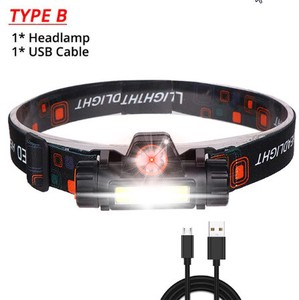 Strong Head Light USB Charging Type Head Lamp Dry Waterproof Head Camp Head Lamp
