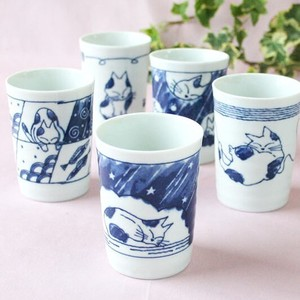 Cat Japanese Tea Cup Japanese Tea Cup 5 Pcs Set