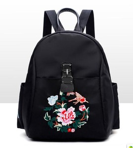 Ladies Bag Embroidery Backpack Peony Flower Ladies Ford Ethnic Style Backpack