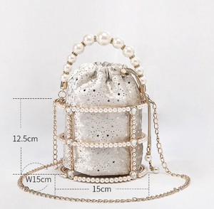 Handbag Messenger Bag Party Bag Clutch Bag Ladies Pearl Pearl
