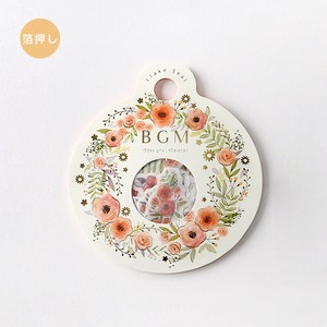 Flake SEAL Foil Stamping Flower Wreath Washi Tape Material
