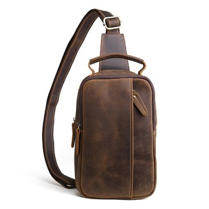 Men's Genuine Leather Cow Leather Diagonally Bag Single-shoulder Bag Leather Cow Leather