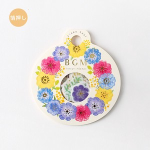 Flake SEAL Foil Stamping Anemones Wreath Washi Tape Material