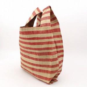 ラフィアラバンバッグ スーパー袋 赤