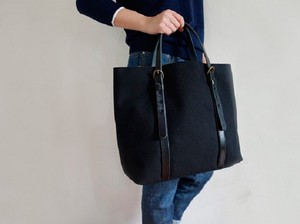 Leather Handle Tote Bag Handle Black