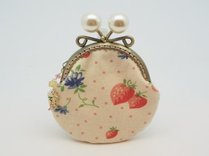 Feeling Coin Purse Pouch Coin Case Base Strawberry White