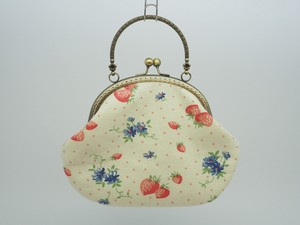 Last Feeling Coin Purse Bag Base Strawberry White