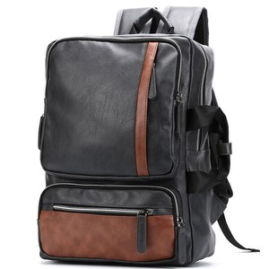 Backpack Fine Quality Leather Men's Business Bag Backpack Commuting