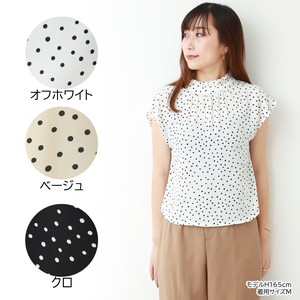 Random Dot Ribbon Blouse French [ 2020NewItem ]