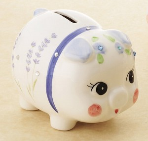 Ornament Crystal Piggy Bank
