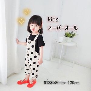 [ 2020NewItem ] Korea Girl Unisex Children's Clothing Kids Dot Overall
