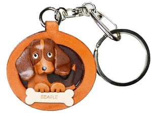 Plate Dog Big Genuine Leather Key Ring Artisans Handmade