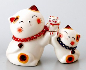 Ornament Parent And Child Cat Piggy Bank