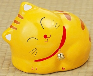 Ornament Sleep Kitten Piggy Bank