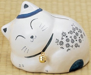 Ornament SOMETSUKE Sleep Kitten Piggy Bank