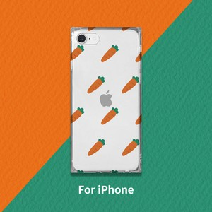 iPhone soft Square Case Carrot Pattern