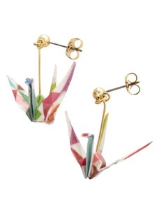 Folded Paper Crane Windmill Pierced Earring