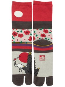 "Japanese Playng Card ""HANAFUDA"" Tabi Socks type Sock"