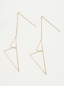 Design Triangle Frame Pierced Earring
