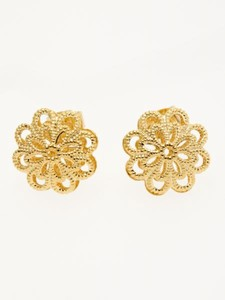 Design Watermark Flower Pierced Earring