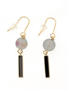 Design Blur Pierced Earring