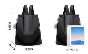 Single-shoulder Closs Body Fashion soft Leather Backpack Prevention Backpack Korea Ladies