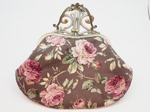 Feeling Coin Purse Bag Base Rose Brown