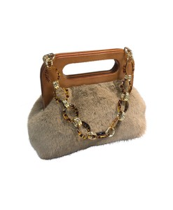 Bag Shoulder Bag Chain Bag Fur Fur Bag Ladies Handbag