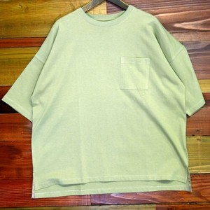 For Summer Continuation Cotton Half Length Drop Shoulder Big T-shirt