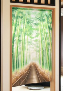Japanese Noren Curtain Bamboo Forest