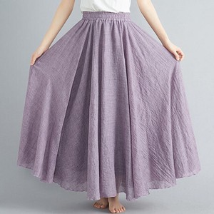 Natural Flare Long Cotton Skirt Lining