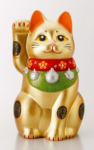 Ornament Gold Beckoning cat Ornament