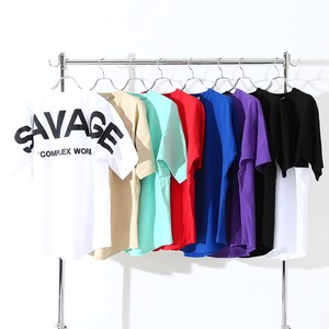 S/S 8 Colors Bag Unisex Foaming Print Big Short Sleeve T-shirt