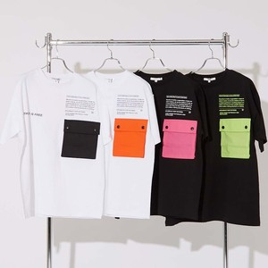 S/S Unisex Color Scheme Pocket Big Short Sleeve T-shirt