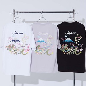 S/S Unisex Japanese Pattern Embroidery Short Sleeve T-shirt