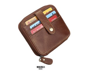 Men's Genuine Leather Multiple Functions Card Coin Case