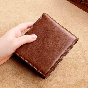 Genuine Leather Business Men's Wallet Gift Money Clip