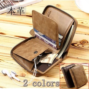 Wallet Men's Two Genuine Leather Men's Ladies Wallet Card Storage Coin Purse