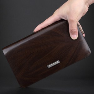 Men's Genuine Leather Multiple Functions Cow Leather Wallet Business Casual Bags