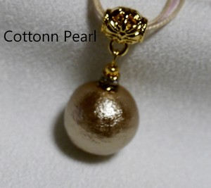 Cotton Pearl Choker Champagne Gold