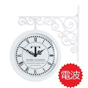 両面電波時計 両面時計 Classic Double Clock 0604(WH)