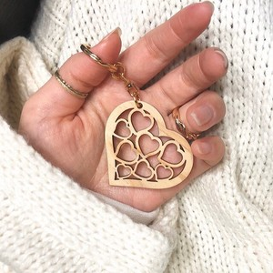 Japanese Cypress Heart Key Ring Hand Maid [ 2020NewItem ]