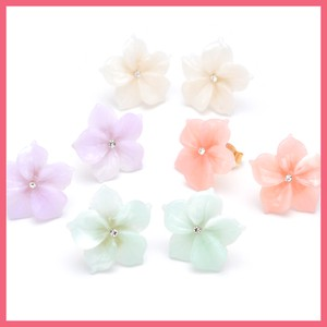 Milky Candy Flower Pierced Earring