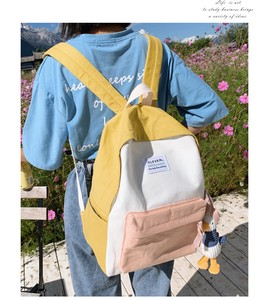 Canvas Backpack Girl Backpack Small Fresh College Style for School Bag