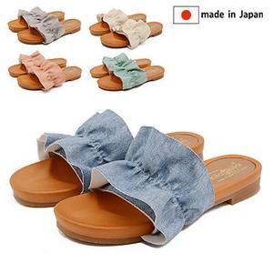 【2020新作】日本製/made in japan ラッフルサンダル(5カラー/5サイズ)