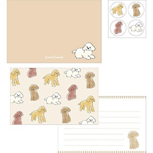 Writing Papers & Envelope Animals Toy Poodle