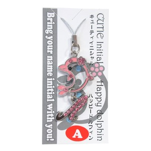 Strap Cute Initial Strap Happy Dolphin Pink 10 Types