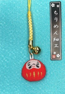 Ornament Crape Cell Phone Charm Daruma Ornament